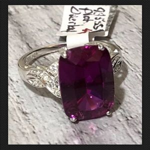 CBS 925 Sterling purple GEM 19x9mm SOLITAIRE RING